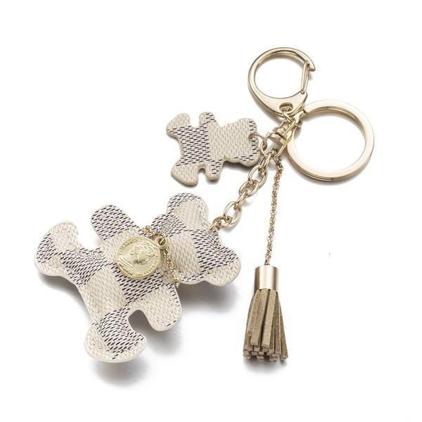 White Brand New Teddy Bear Charm - Think Fanny