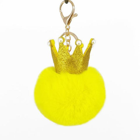 Yellow Crown Puffy Ball Charm - Think Fanny