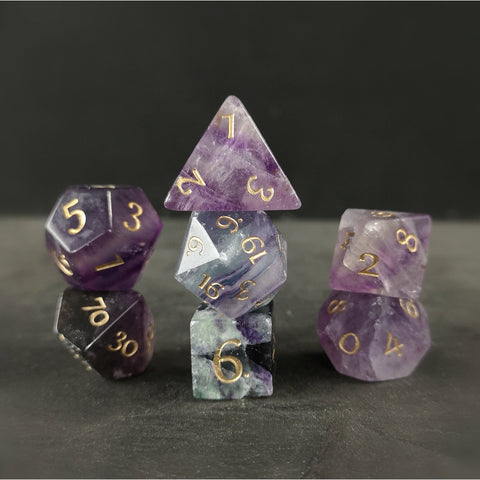 Purple Fluorite dice
