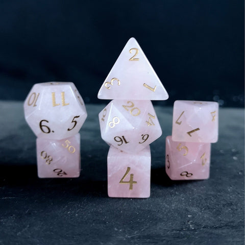 Rose Quartz dice