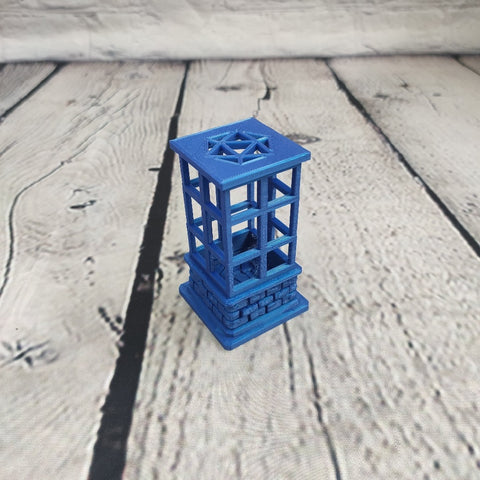 Dark Blue Dice Jail