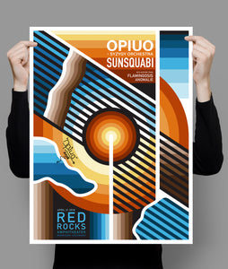 (Signed) Red Rocks 2018 Limited Poster 18 x 24
