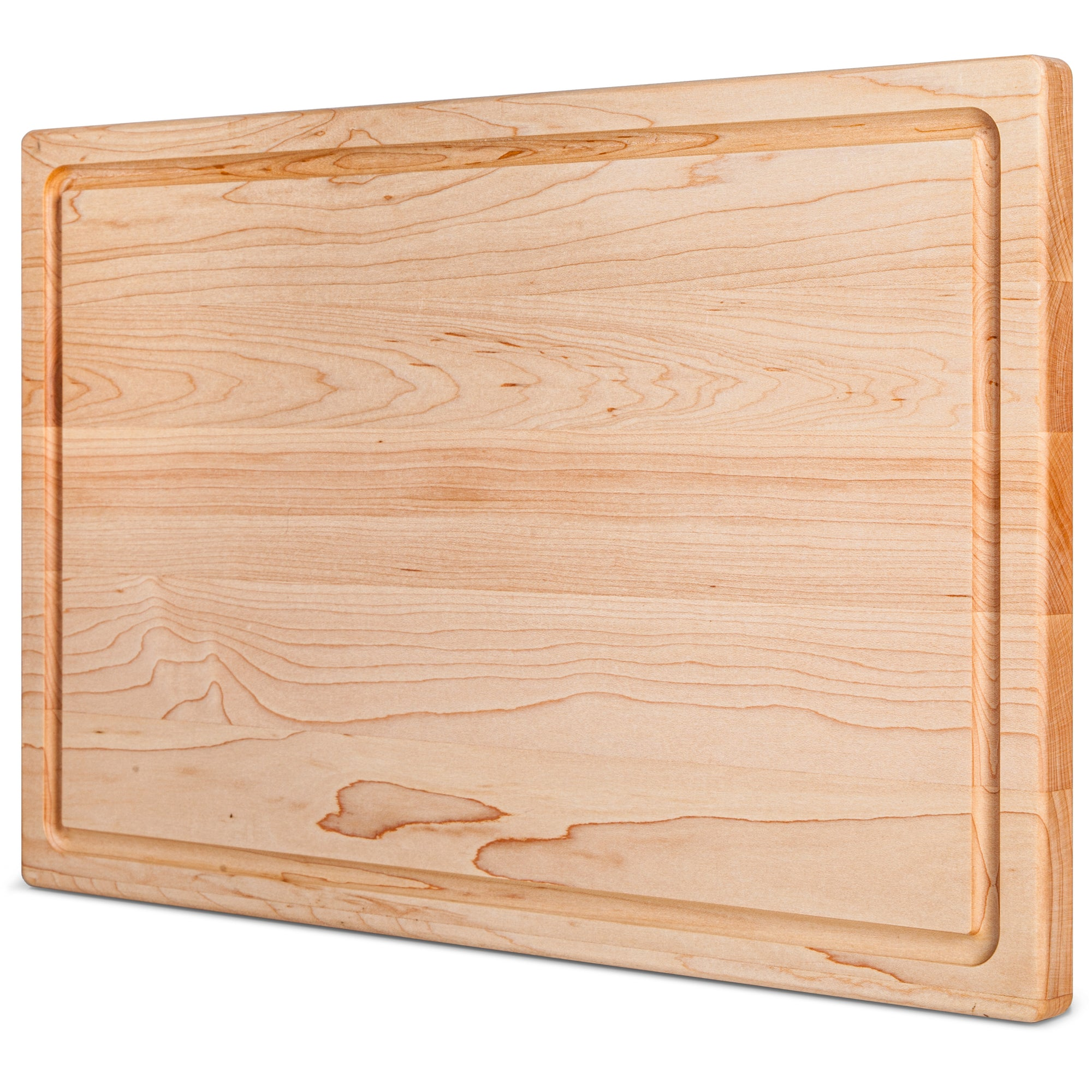 17x11x0.75'' Flat Grain Maple Cutting Board with Juice Grooves