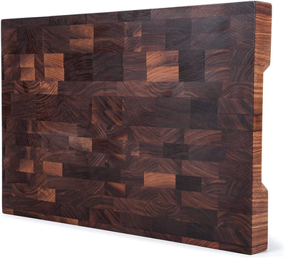 18x12x1.5'' End Grain Walnut Cutting Board with Handles