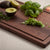 "17x11 Edge Grain Walnut Cutting Board with Juice Groove 0.75"" Thick"