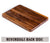 18x12x1.25'' Flat Grain Walnut Cutting Board with Juice Grooves