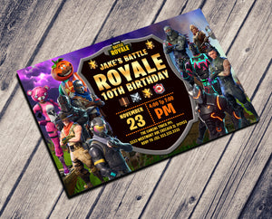 FORTNITE BIRTHDAY INVITATIONS - BATTLE ROYALE