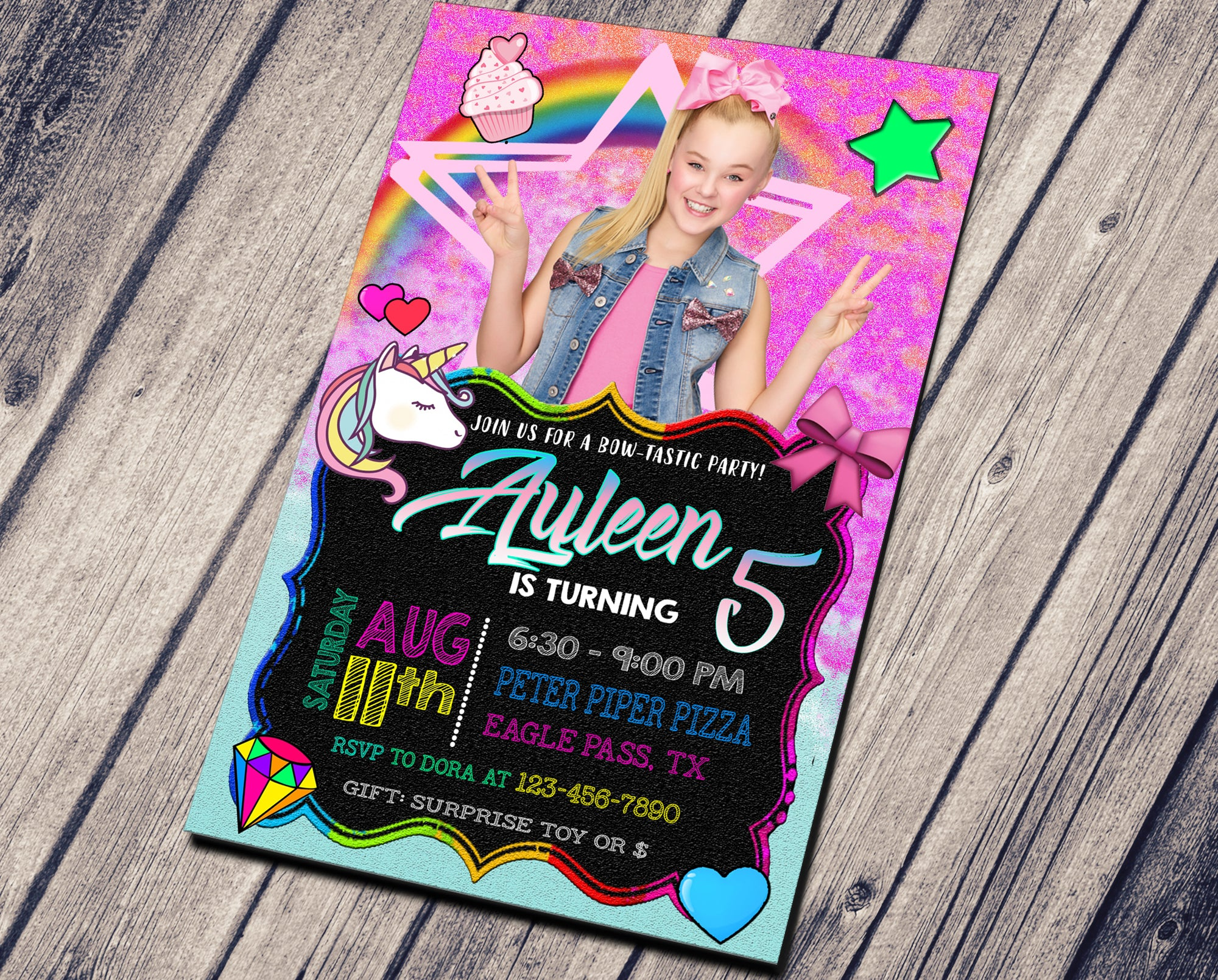JOJO SIWA BIRTHDAY INVITATION