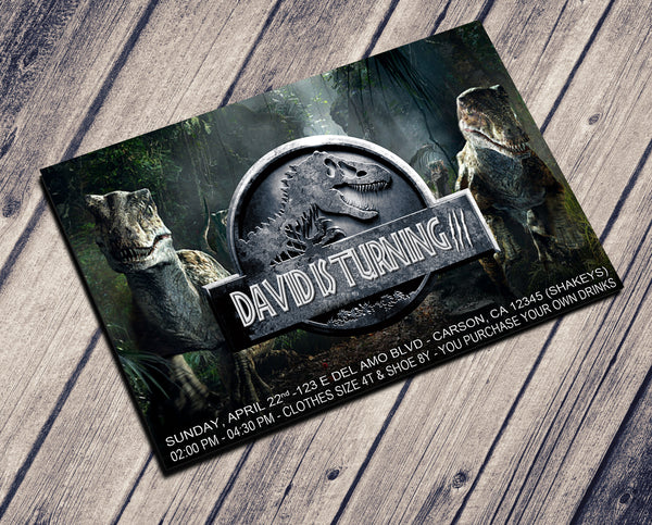 JURASSIC BIRTHDAY INVITATION