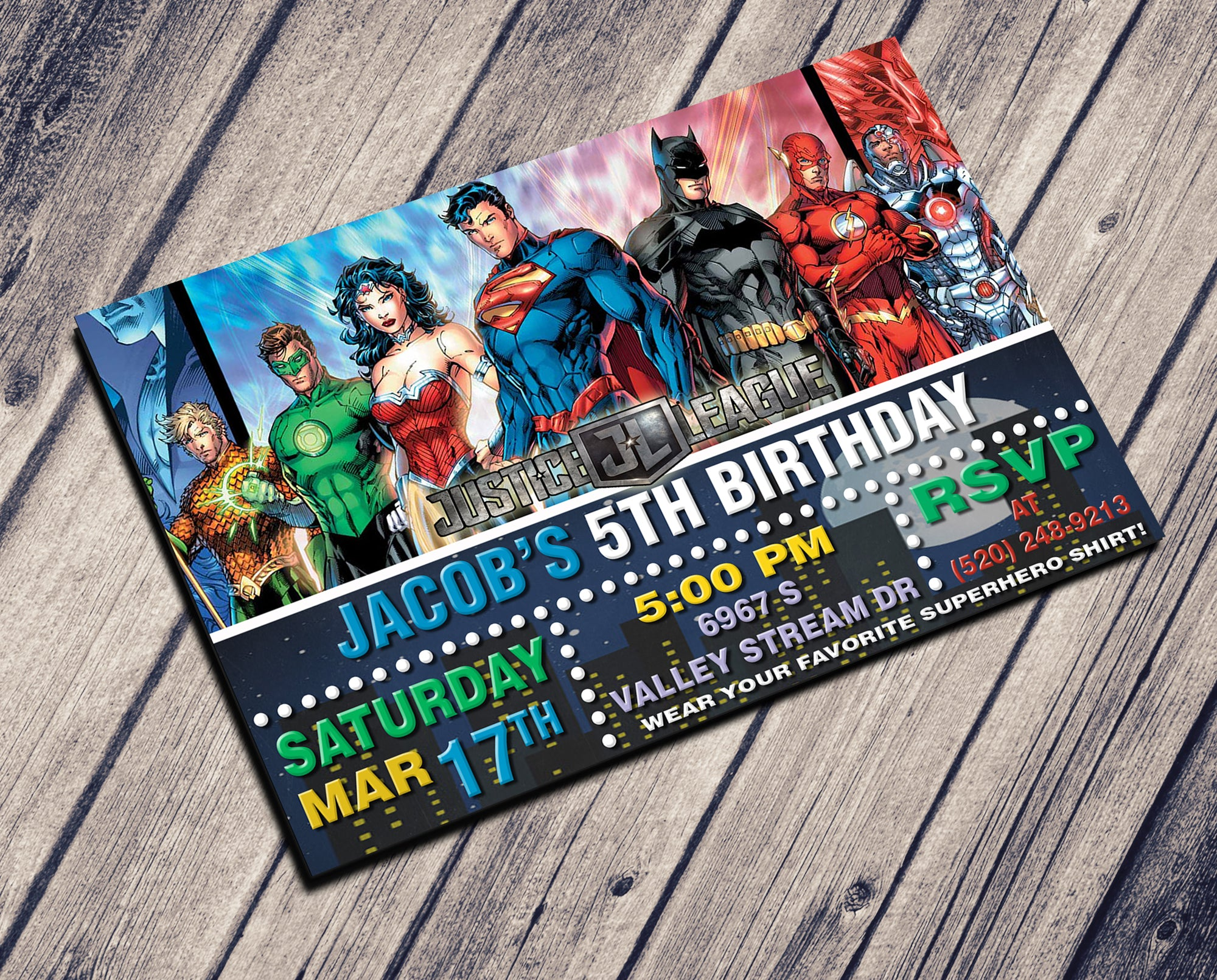 JUSTICE LEAGUE INVITATION