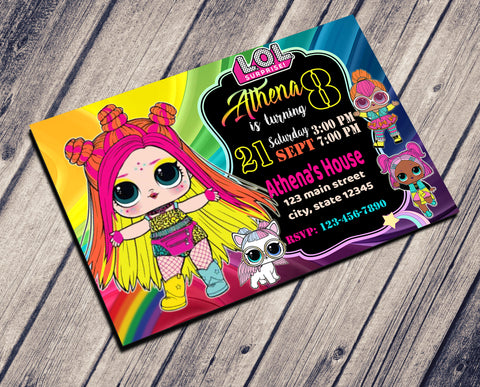 Copy of LOL SURPRISE DOLLS BIRTHDAY INVITATION