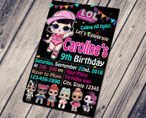 LOL SURPRISE DOLLS BIRTHDAY INVITATION