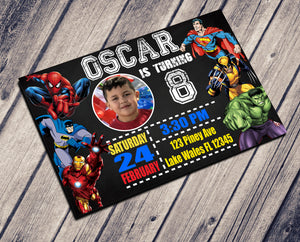 SUPERHEROES BIRTHDAY CARD