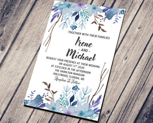 WEDDING PARTY INVITATION - LILY BLUE