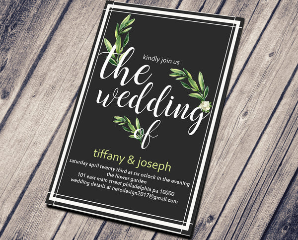 WEDDING PARTY INVITATION - NATURALS SIMPLE