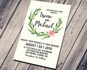WEDDING PARTY INVITATION -BEAUTY IN WHITE