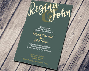 WEDDING PARTY INVITATION - GREEN MATTE