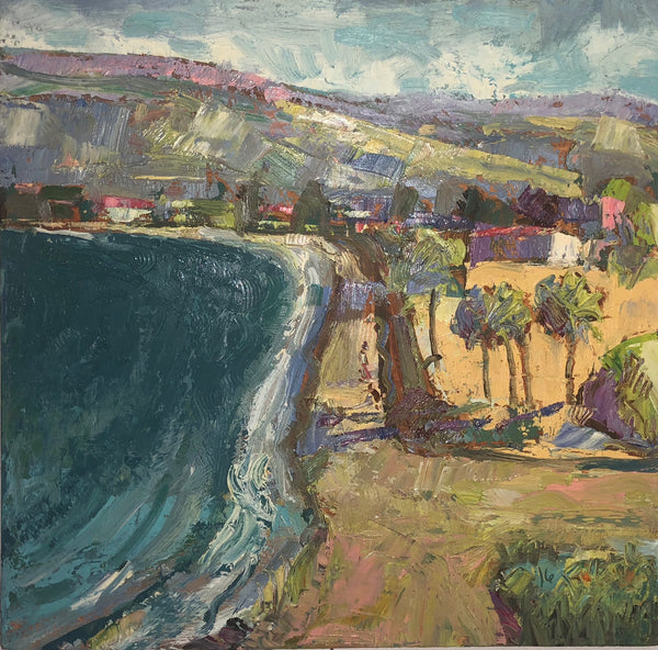 Beach Road Oil Painting