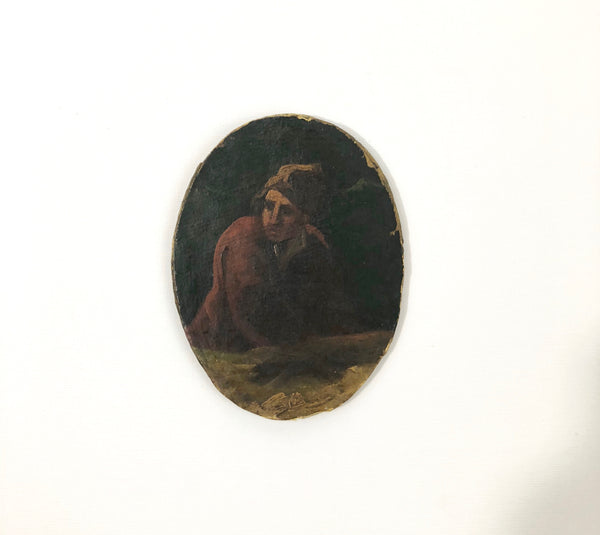 Oval Figure Oil Painting