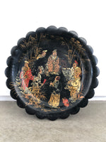 Chinoiserie Scalloped Tray