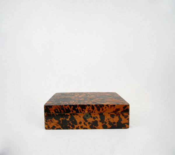 Antique Tortoise Chinoiserie Box