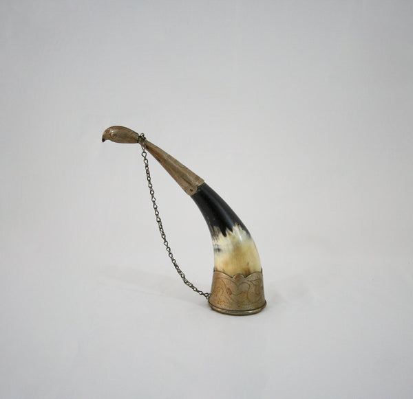 Mini Black And White Horn With Chain