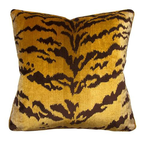 Velvet Tiger Pillow
