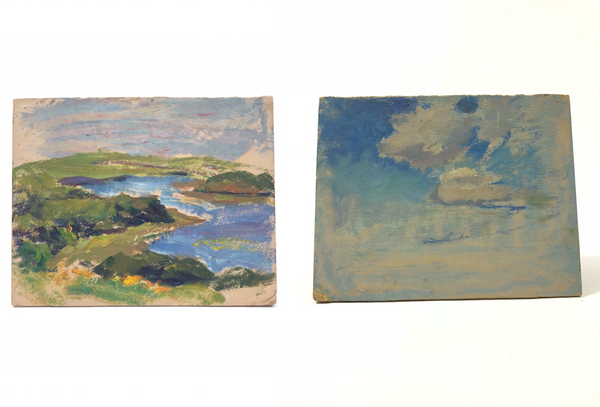 Double-Sided Oil Painting