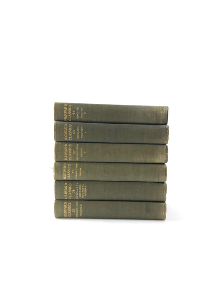 Set of Six Harvard Classics Linen Bound Books