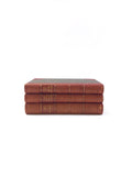Set of Three French Leather Bound Books