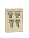 Antique Steel Engraving Column Print
