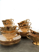 Set of 11 Espresso Cups and Saucers