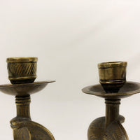 Set of Two Snake Candlesticks
