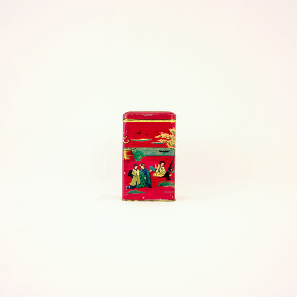 Red Tin Chinoiserie Box