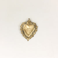 Antique Large Grazia Ricevuta Heart Ex-Voto