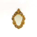 Small Gold Gilt Mirror