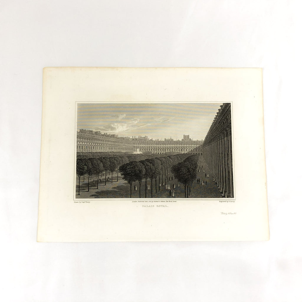 Antique Steel Engraving Palais Royal Print