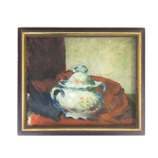 Framed Still Life Oil Painting