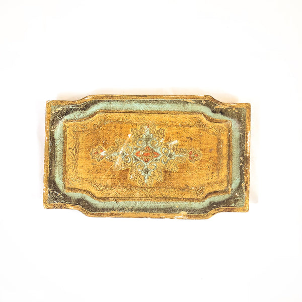 Rectangular Florentine Wood Tray