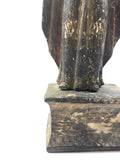 Large Wooden Santos Statue with Base