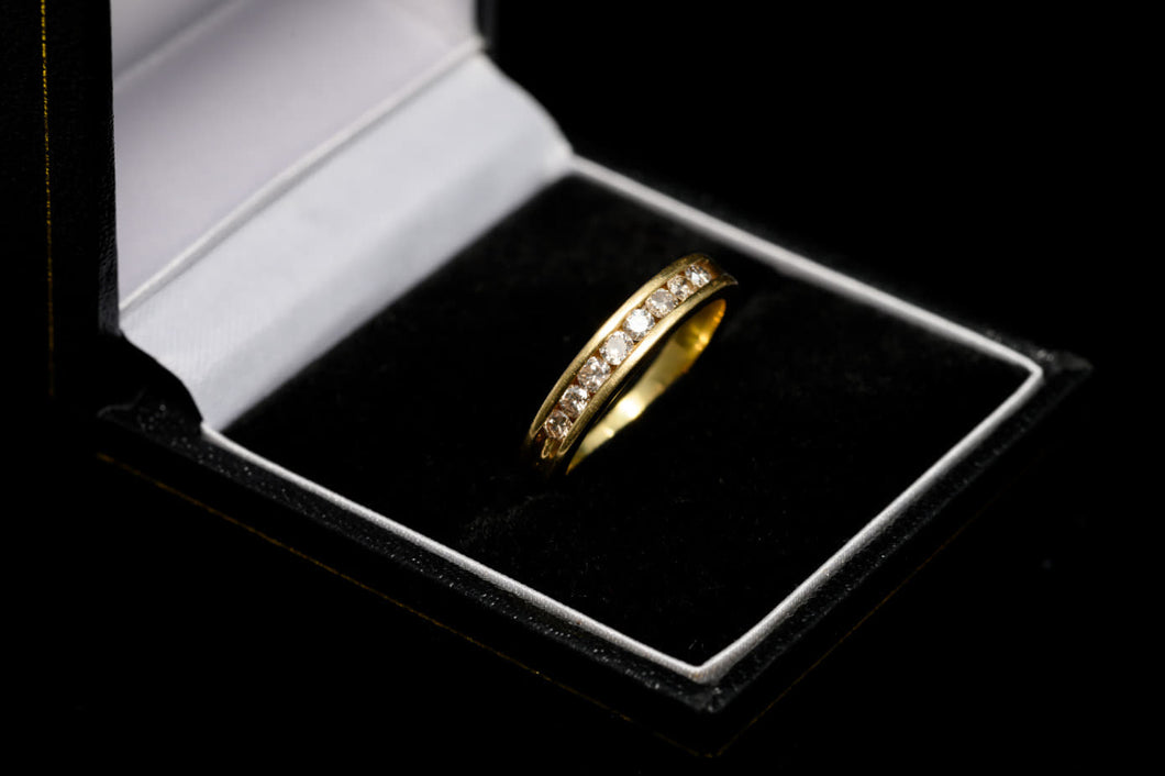 18ct Gold Half Eternity Diamond Ring 0.5ct