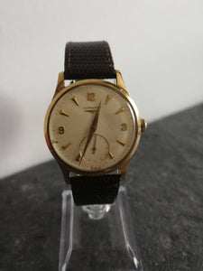 Gents Longines 9ct Solid Gold
