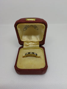 Diamond and Saphire Ring