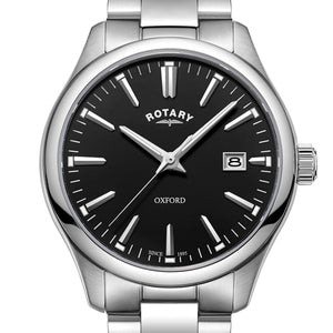 Rotary Gents Bracelet Stainless Steel Oxford