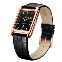Rotary Rose Gold Cambridge Shaped Gents