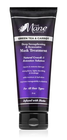 The Mane Choice Green Tea & Carrot Deep Strengthening & Restorative Mask Treatment 8oz