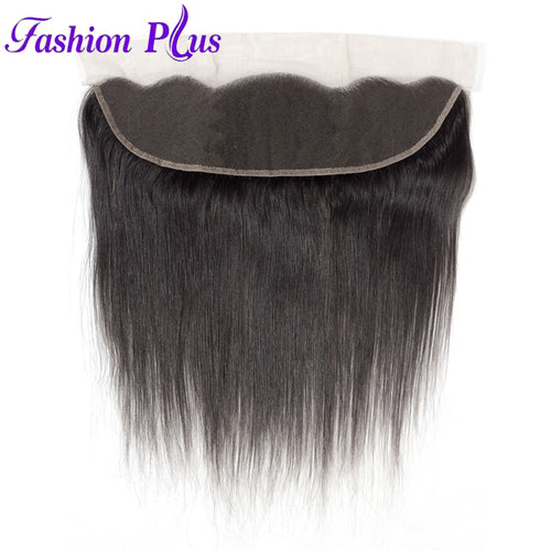 Fashion Plus - Straight 100% Human Hair Brazilian Virgin 13x4 Lace Frontal Straight Hair Frontals