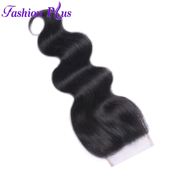 Fashion Plus - Body Wave 100% Human Hair Brazilian Virgin 4x4 Lace Closure Body Wave Closures
