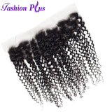 Fashion Plus - Curly 100% Human Hair Brazilian Virgin 13x4 Lace Frontal Curly Hair Frontals
