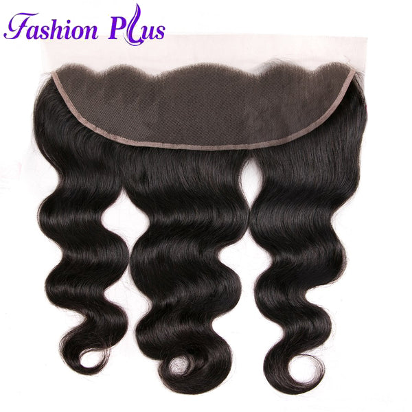Fashion Plus - Body Wave 100% Human Hair Brazilian Virgin 13x4 Lace Frontal Body Wave Hair Frontals